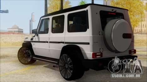Mersedes-Benz G500 Brabus para GTA San Andreas esquerda vista