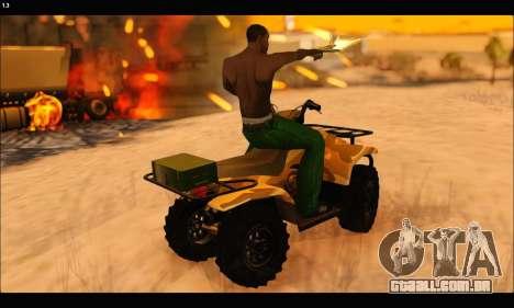 ATV Army Edition v.3 para GTA San Andreas vista superior
