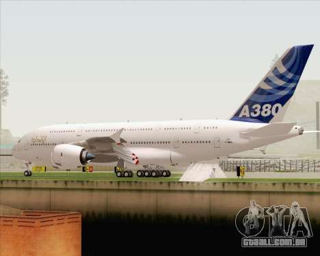 Airbus A380-800 F-WWDD Etihad Titles para GTA San Andreas vista inferior