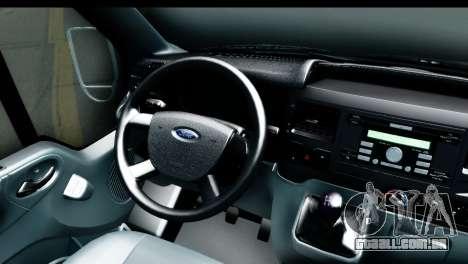 Ford Transit SWB Love Live para GTA San Andreas vista traseira