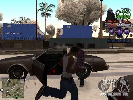C-HUD Les Alterman para GTA San Andreas por diante tela