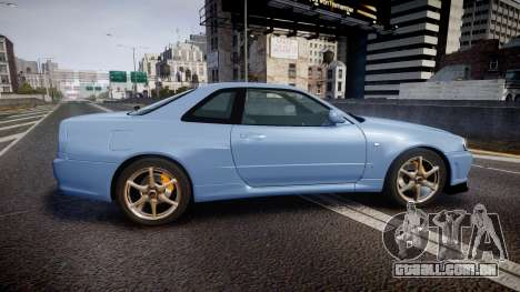 Nissan Skyline R34 GT-R V.specII 2002 para GTA 4 esquerda vista