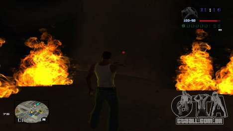 C-HUD Politra para GTA San Andreas por diante tela