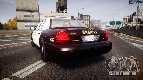 Ford Crown Victoria 2011 LASD [ELS] para GTA 4 traseira esquerda vista