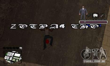 FBI C-HUD para GTA San Andreas quinto tela