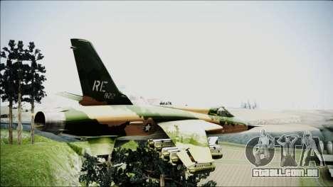 F-105 Thunderchief Polish Glider para GTA San Andreas esquerda vista