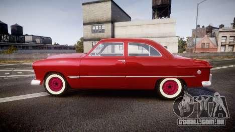 Ford Custom Tudor 1949 para GTA 4 esquerda vista