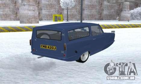 Reliant Supervan III para GTA San Andreas vista traseira