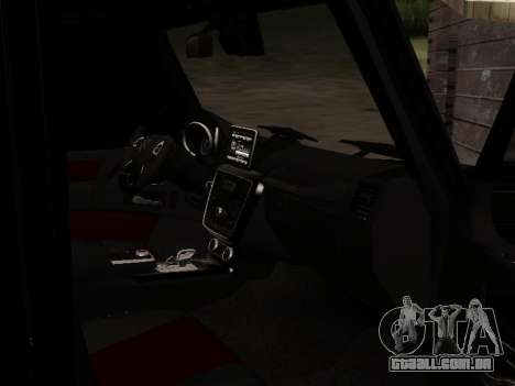 Mercedes-Benz G55 AMG para GTA San Andreas vista inferior