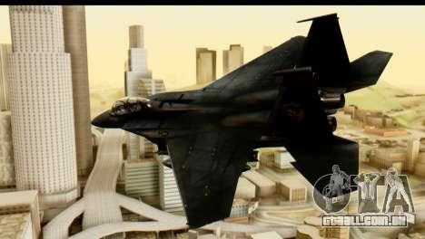 F-15 Razgriz para GTA San Andreas esquerda vista