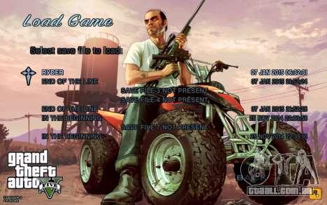 GTA 5 Menu para GTA San Andreas segunda tela