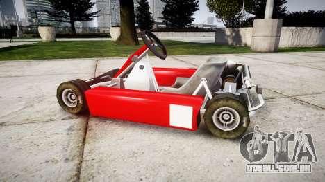 Go Kart para GTA 4 esquerda vista