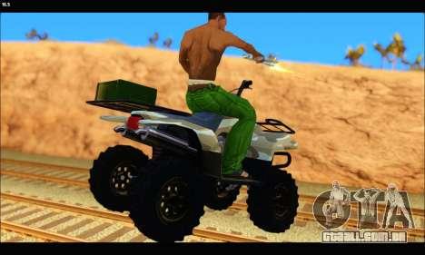 ATV Army Edition v.3 para GTA San Andreas traseira esquerda vista