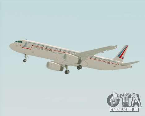 Airbus A321-200 French Government para vista lateral GTA San Andreas