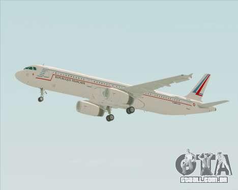 Airbus A321-200 French Government para vista lateral GTA San Andreas