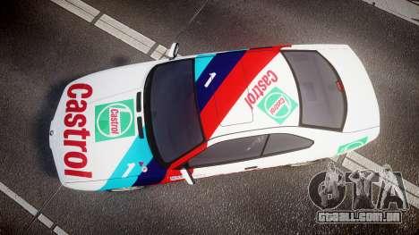 BMW E31 850CSi 1995 [EPM] Castrol White para GTA 4 vista direita