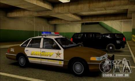Ford Crown Victoria 1994 Sheriff para GTA San Andreas vista interior