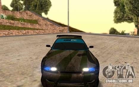 Nissan Silvia S15 Hunter para GTA San Andreas esquerda vista