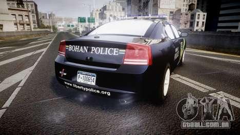Dodge Charger 2006 Sheriff Bohan [ELS] para GTA 4 traseira esquerda vista
