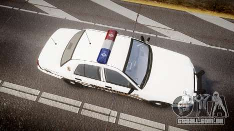 Ford Crown Victoria LCSO [ELS] MX7000 para GTA 4 vista direita