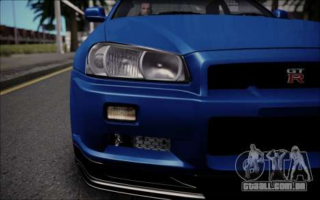 Nissan Skyline GT-R V Spec II 2002 para GTA San Andreas vista direita