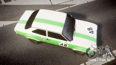 Ford Escort RS1600 PJ48 para GTA 4 vista direita