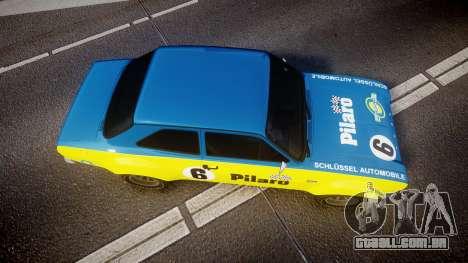 Ford Escort RS1600 PJ6 para GTA 4 vista direita