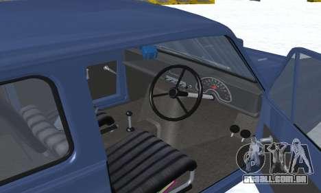 Reliant Supervan III para GTA San Andreas interior