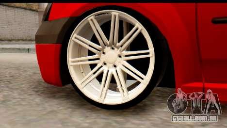 Dacia Logan MXP para GTA San Andreas traseira esquerda vista
