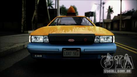 Taxi Vapid Stanier II from GTA 4 IVF para GTA San Andreas vista traseira