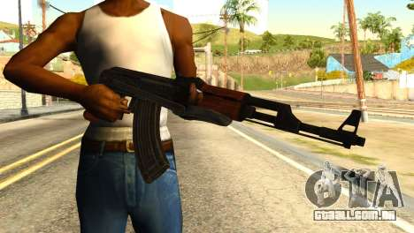 AK47 from Global Ops: Commando Libya para GTA San Andreas terceira tela