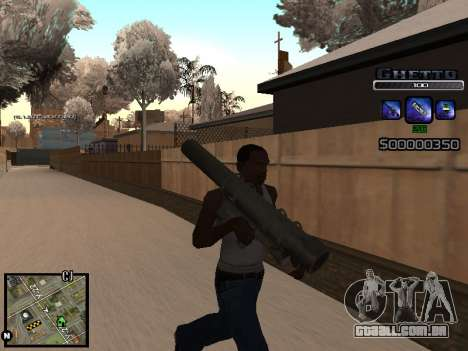 С-HUD DO GUETO para GTA San Andreas por diante tela