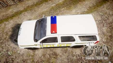 Chevrolet Tahoe 2010 Police Alderney [ELS] para GTA 4 vista direita