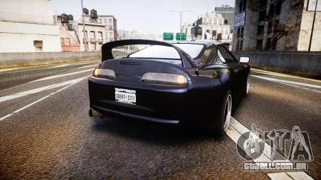 Toyota Supra Tuned para GTA 4 traseira esquerda vista
