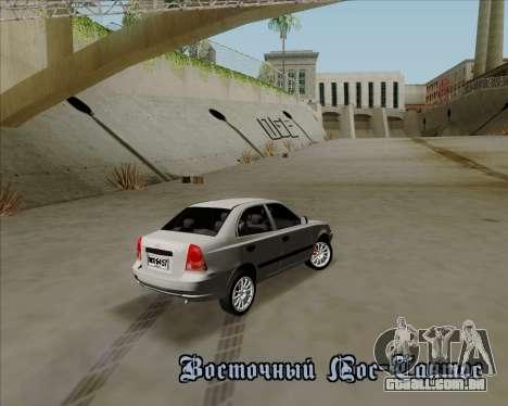Hyundai Accent 2004 para GTA San Andreas vista traseira