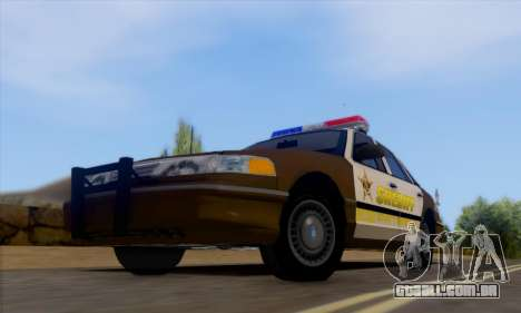 Ford Crown Victoria 1994 Sheriff para GTA San Andreas esquerda vista