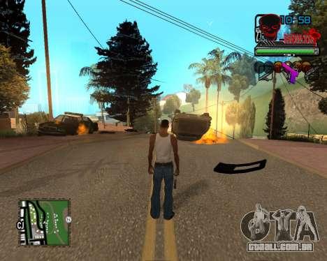 C-HUD Tawer Ghetto para GTA San Andreas