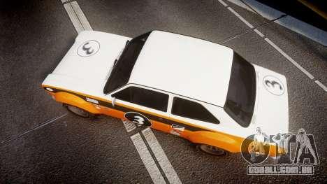 Ford Escort RS1600 PJ3 para GTA 4 vista direita