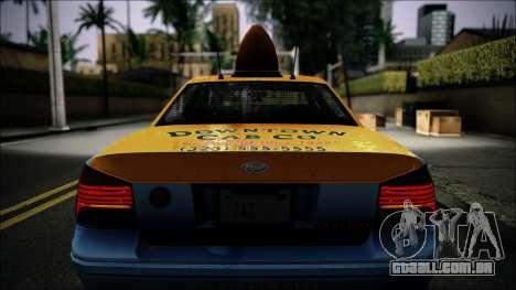 Taxi Vapid Stanier II from GTA 4 IVF para GTA San Andreas vista interior