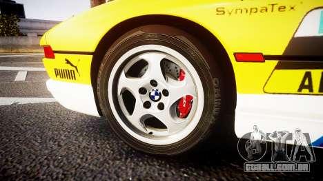 BMW E31 850CSi 1995 [EPM] E-Post Brief para GTA 4 vista de volta
