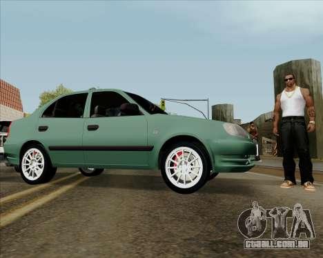 Hyundai Accent 2004 para GTA San Andreas vista direita