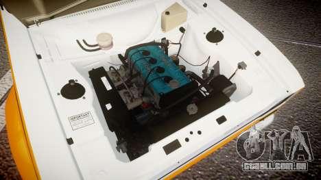 Ford Escort RS1600 PJ3 para GTA 4 vista de volta