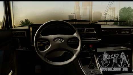 VAZ 2107 de Fluxo para GTA San Andreas vista traseira