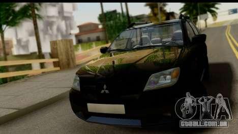 Mitsubishi Outlander para GTA San Andreas vista traseira