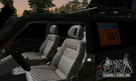 Mitsubishi Pajero Off-Road para GTA San Andreas vista interior