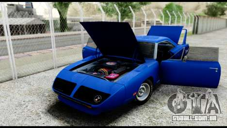 Plymouth Roadrunner Superbird RM23 1970 IVF para GTA San Andreas vista interior
