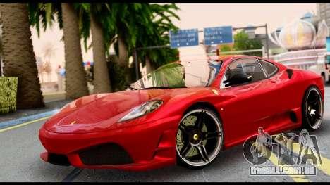 Ferrari F430 Scuderia para GTA San Andreas traseira esquerda vista