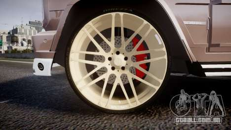 Mercedes-Benz G65 Brabus rims1 para GTA 4 vista de volta
