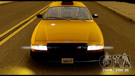 GTA 4 Vapid Stanier Downtown Cab para GTA San Andreas vista direita
