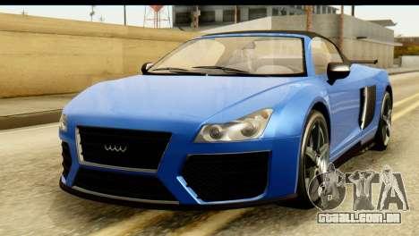 GTA 5 Obey 9F Cabrio para GTA San Andreas